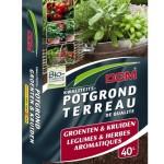 De vierkante meter tuin met groenten en kruiden. De moestuin op je terras.