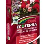 Dcm Ecoterra potgrond voor je geranium, Surfinia en alle éénjarige perkplanten.